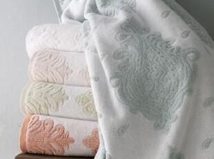 简单的奢华 土耳其欧式浮雕650克上等纯棉圈绒浴巾三件套 限时9折,毛巾,