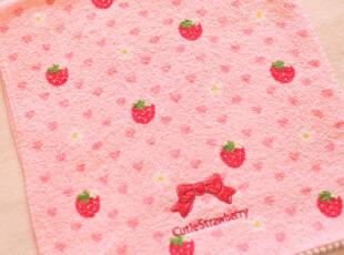 特价 生活好品质 外单超嗲草莓Kitty毛巾 面巾,毛巾,