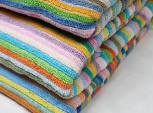 88包邮190*150外贸原单全棉纯棉厚百变毛巾被毛巾毯彩条加大浴巾,毛巾,