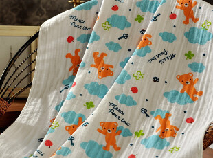 JF2663 日单尾货 纯棉纱布 儿童浴巾 抱毯 盖毯 夏凉被,毛巾,