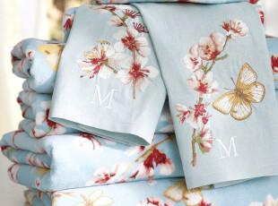 美国进口-葡萄牙制造有机棉割绒浴巾-600克,毛巾,