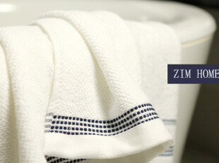 ZIM HOME外贸超大加厚柔软吸水性强不掉毛埃及棉刺绣白色浴巾促销,毛巾,