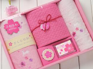 日本内野UCHINO樱花套装礼盒5 毛巾礼盒 教师节礼物 创意实用包邮,毛巾,