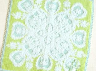 日本原单正品 夏威夷风情 纯棉全棉手帕/小方巾/擦手巾/Q绿,毛巾,