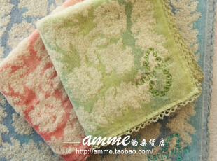 外贸出口纯棉无捻纱夏威夷三色小方巾手帕,毛巾,