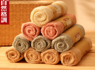 自然格调│日式100%竹纤维毛巾 柔肤吸水 加厚宝宝 面巾 3条包邮,毛巾,