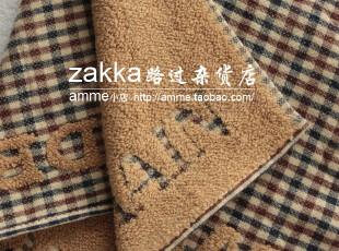 amme小店外贸出口纯棉单面纱布格子小方巾手帕,毛巾,