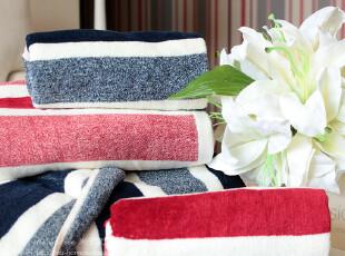 米子家居 超细纤维粗条纹毛巾,毛巾,