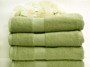 包邮 出口原单美国品牌 竹纤维纯棉混纺 豆沙绿浴巾 加大加厚吸水,毛巾,