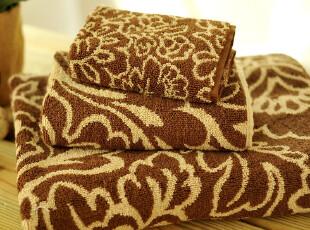 JF2856 外贸尾货 色织双面提花 毛巾浴巾 三件套,毛巾,