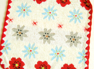 日本原单 法国CHAT-CHIEN 花朵 纯棉全棉女士手帕/小方巾/HHB,毛巾,