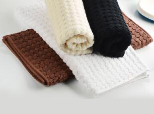 SATU BROWN 100%上等纯棉 提花格子面巾 欧式高品质毛巾正品,毛巾,
