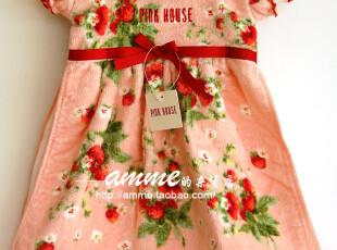 外贸出口日本pink house原单草莓裙纯棉擦手毛巾(无挂标,送衣架),毛巾,