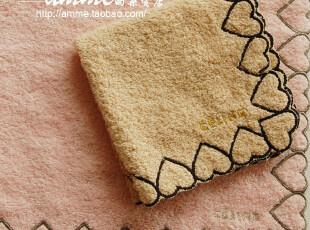 外贸出口瑟琳桃心小方巾手帕,毛巾,
