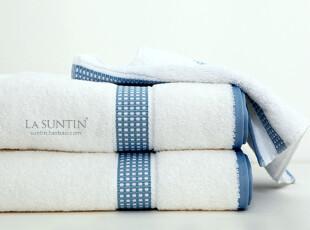 特价外贸原单 白色纯棉浴巾毛巾方巾三件套装 可配礼盒 加大加厚,毛巾,