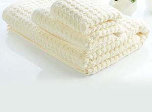 SATU BRONN 100%上等纯棉毛巾 高品质 提花格子手面浴巾套装,毛巾,
