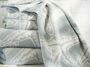 时尚家居浴巾套件 海星纯棉有机棉欧式650克浴巾毛巾方巾三件套,毛巾,