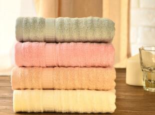 【品牌特卖】奇居良品 抗菌情侣竹纤维毛巾洁面巾4条装套餐,毛巾,