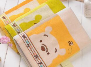 日本内野迪士尼DISNEY维尼熊PO方格浴巾 纯棉婴儿童浴巾 特价包邮,毛巾,