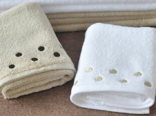 日本订单余款-新疆棉白色/驼色超柔面巾 柔软加厚 情侣款,毛巾,