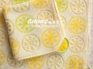 外贸出口纯棉柠檬小方巾手帕,毛巾,