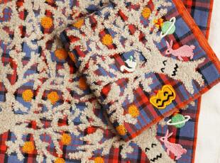 出口日本v*vienne w*stwood土星橙树纯棉方巾手帕,毛巾,