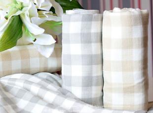 米子家居 条纹方格 纱布毛巾,毛巾,