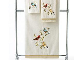 美国进口爱提诺瑞鸟有机棉浴巾毛巾方巾三件套,毛巾,