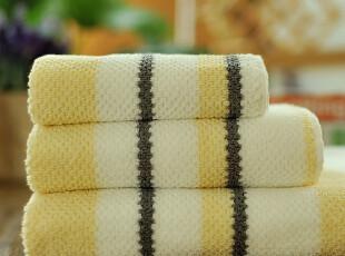 JF2851 D*NY 尾货 色织立体凹凸点提花 毛巾浴巾 三件套,毛巾,