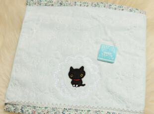原装出口 san-x 袜子猫 小袜猫 靴下猫 全面刺绣纯棉大方巾 毛巾,毛巾,