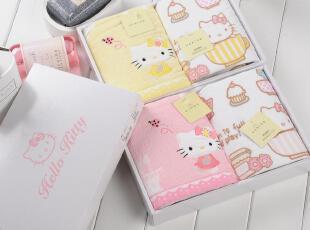 内野HELLO KITTY凯蒂猫正版二件套毛巾礼盒 情侣礼物HKT22006,毛巾,