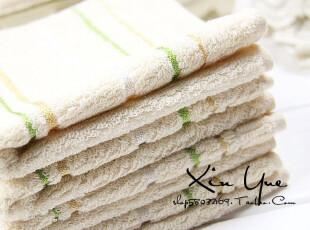 XY百货♥出口日本淡雅条纹小方巾手绢手帕女士全棉(特价),毛巾,