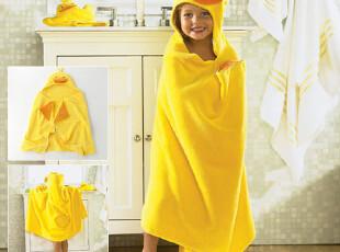 怡天时 DP02 纯棉卡通儿童浴巾浴袍斗篷 宝宝游泳浴巾 特价包邮,毛巾,