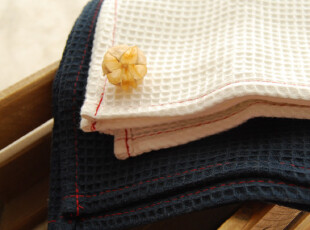 【山鱼良品】纯棉素色小方巾 无挂扣 2色可选,毛巾,