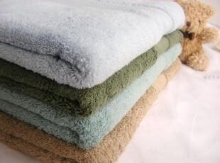 [白色莫奈]优选 纯棉*特惠素色加厚螺旋缎档大浴巾/多色,毛巾,