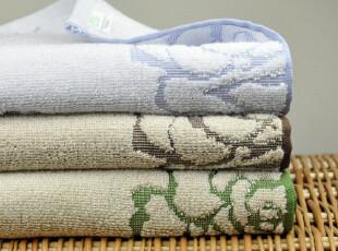 外贸美国订单 加厚加柔色织提花面巾|毛巾 200克 三色选,毛巾,