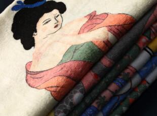 日本江户【浮世绘】神奇变色温泉毛巾,毛巾,