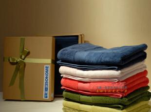 【礼物专享】无捻纱纯棉提缎浴巾 多色 超柔软 专属礼盒加包邮,毛巾,