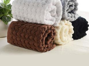 SATU BROWN 100%上等全棉高品质宜家毛巾 纯棉提花格子毛巾 正品,毛巾,