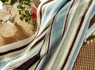 F2282 DISTINCTLY HOME 尾货纯棉浴巾 双面毛圈 色织彩条,毛巾,