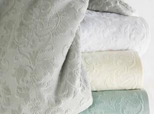 简单的奢华纯棉提花割绒圈绒浴巾毛巾方巾三件套银灰现货 限时9折,毛巾,