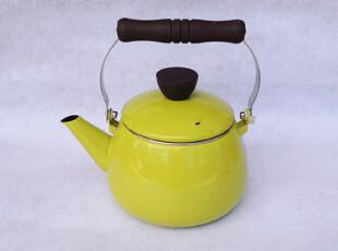 『樂樂堂』 黄绿色 2.4L搪瓷珐琅壶 烧水壶 凉水壶,水壶,