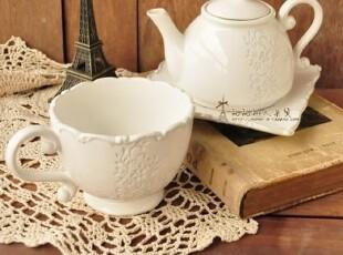 zakka杂货 下午茶 复古宫廷陶瓷咖啡壶 水杯 盘子 水壶,水壶,