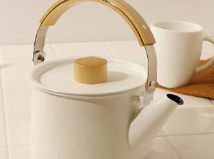 日本直送白色搪瓷烧水壶珐琅 电磁炉直火煤气1.45L,水壶,