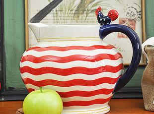 美国星旗图案大公鸡系列 水升 冷水壶 水壶 花瓶 节日礼物,水壶,