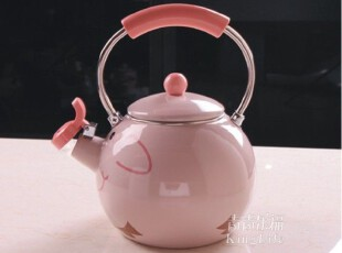 青青乐福 搪瓷凉水壶 茶壶 厂家直销 动物壶 小猪图案 1.5L,水壶,