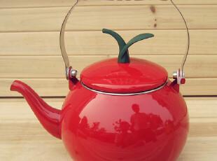 Lasion 出口原装 纯色系列 1.5L柿型 搪瓷烧水壶 咖啡壶 红,水壶,