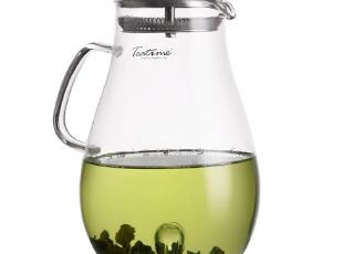 teatime水滴中的水滴壶 2升超大容量玻璃壶 冷热饮大水升带过滤盖,水壶,