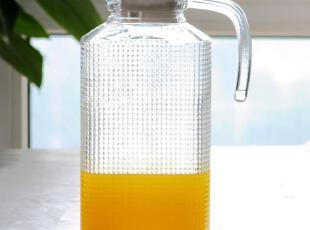 西泽 出口级钻石冷水壶 玻璃果汁壶 凉水壶 四方壶 扎壶 可开水,水壶,
