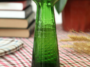 冷水壶 复古 浮雕 大容量 创意 玻璃 插花壶 花瓶摆件 时尚花器,水壶,